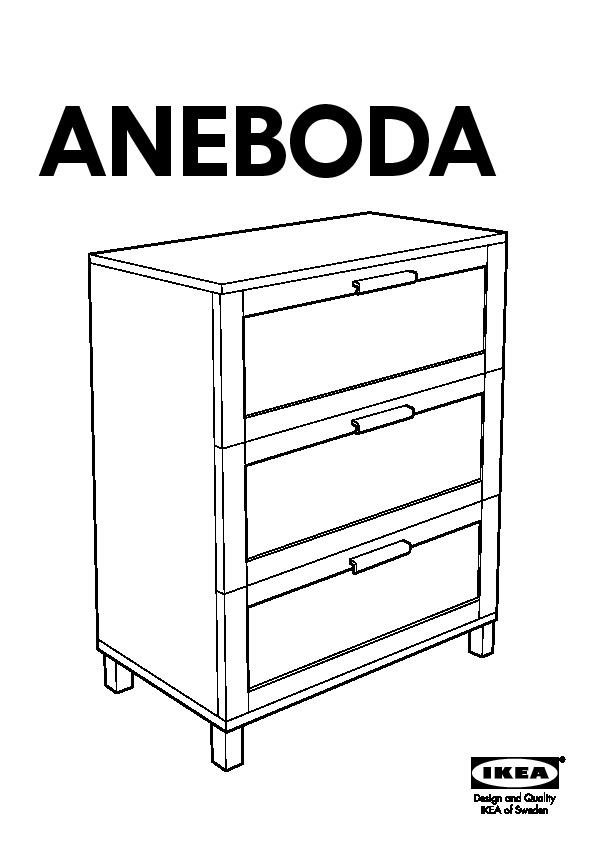 Aneboda commode 3 tiroirs blanc ikea france ikeapedia for Meuble 3 tiroir ikea