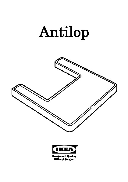 Ikea Waschtische Waschbeckenunterschrank ~ 40076093  ANTILOP Tablette pour chaise haute  Notice de Montage