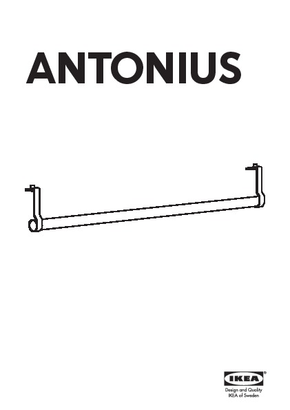 antonius clothes rail with rail luminaire ikea. Black Bedroom Furniture Sets. Home Design Ideas
