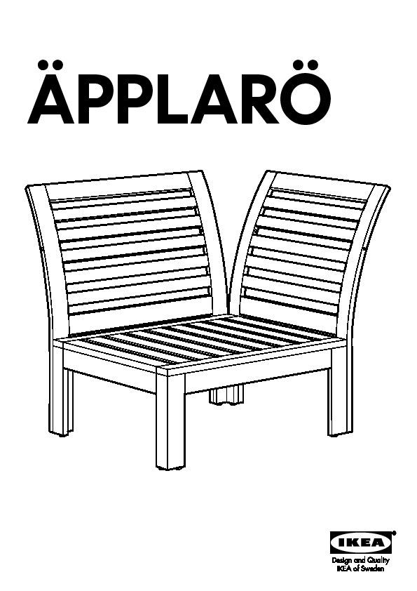 ÄPPLARÖ corner section