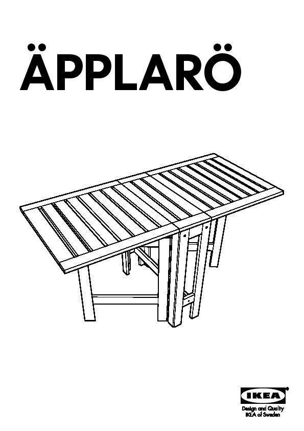 Pplar table rabat brun ikea france ikeapedia - Table a rabat ikea ...