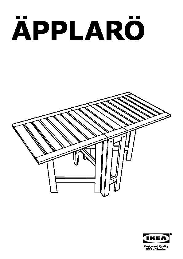 ÄPPLARÖ Gateleg Table, Outdoor