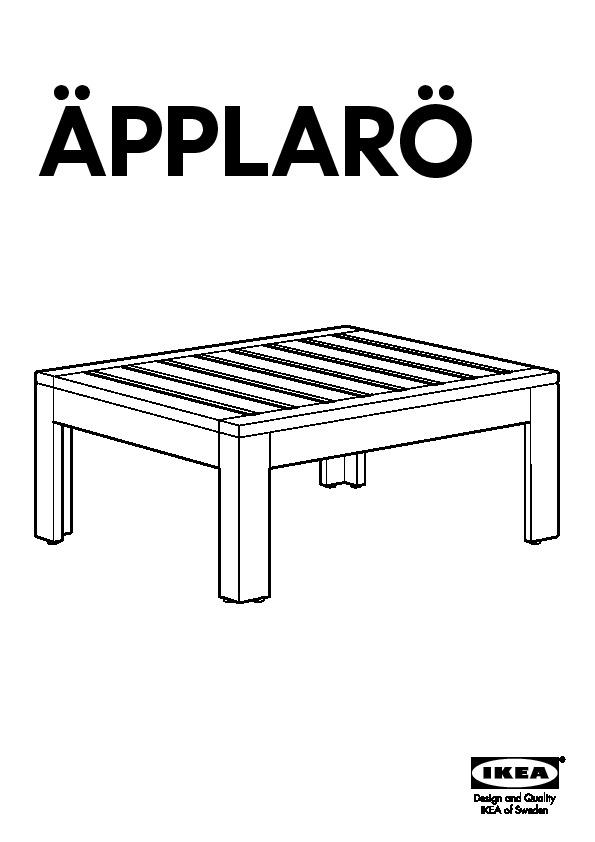 ÄPPLARÖ module table/tabouret