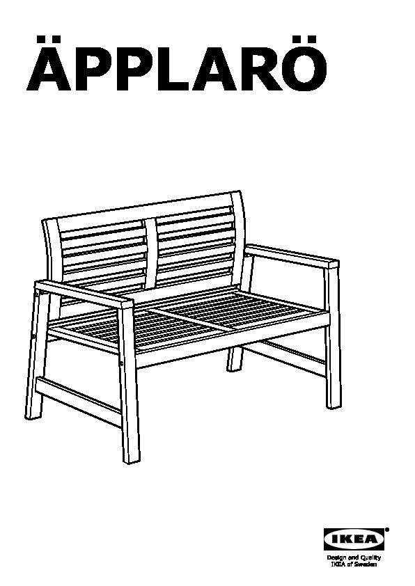Pplar tavolo 2sedie bracc panca giardino bianco h ll - Panca giardino ikea ...