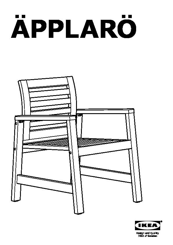 Pplar tavolo 2sedie bracc panca giardino bianco steg n - Sedia con braccioli ikea ...