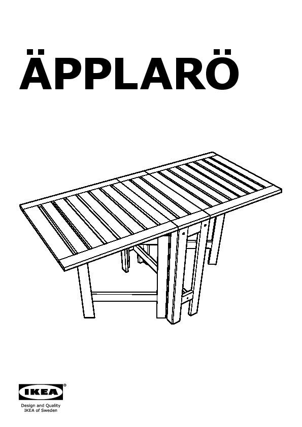 ÄPPLARÖ Table pliante, extérieur