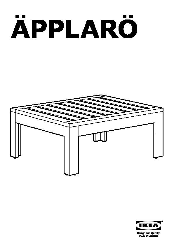 ÄPPLARÖ Table/stool section, outdoor
