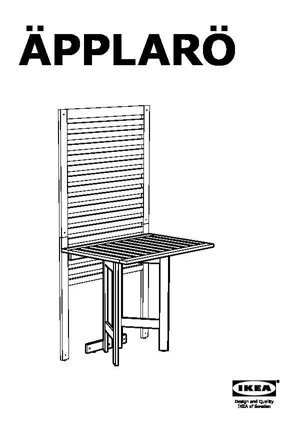 Tavolo A Ribalta A Parete.Applaro Pannello Da Parete Tavolo Esterno Mordente Marrone Ikea
