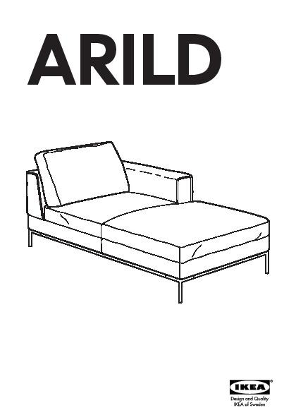 Arild Méridienne Gauche Karaktär Noir Ikea France Ikeapedia
