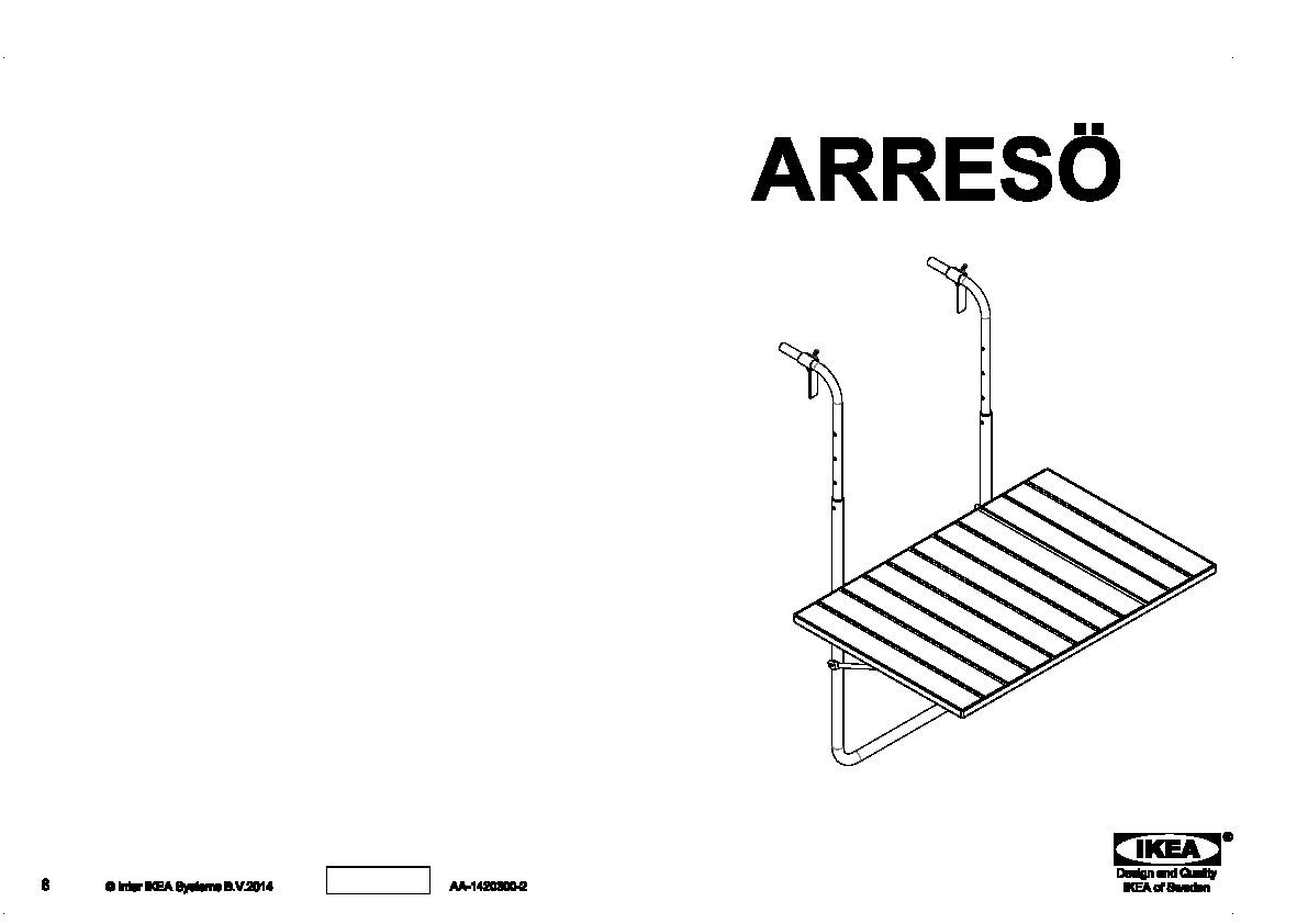 Tavolino Da Ringhiera Ikea.Arreso Tavolo Da Balcone Marrone Ikea Italy Ikeapedia