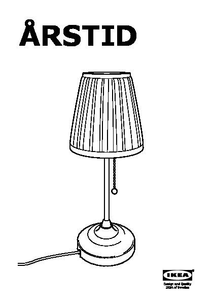 Arstid Lampada Da Tavolo Ottone Bianco Ikeapedia