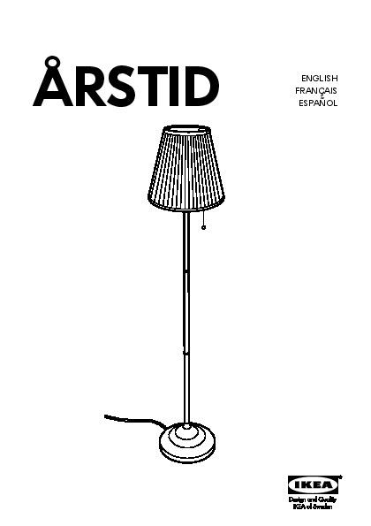 197 Rstid Floor Lamp Nickel Plated White Ikea United States