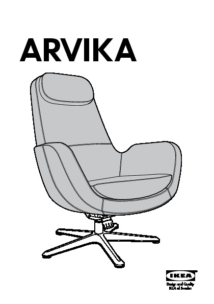 arvika fauteuil pivotant grann noir ikea france ikeapedia. Black Bedroom Furniture Sets. Home Design Ideas