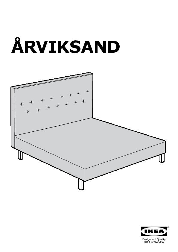 Fodera Per Testata Letto Matrimoniale Ikea.Arviksand Struttura Letto Con Testiera Grigio Isunda Ikea Italy