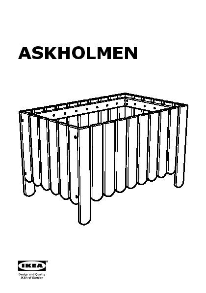 askholmen jardini re avec treillis ext rieur teint gris brun ikea france ikeapedia. Black Bedroom Furniture Sets. Home Design Ideas