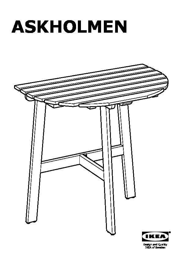 Tavolo Da Muro Pieghevole Ikea.Askholmen Tavolo Da Parete Da Esterno Pieghevole Mordente Grigio
