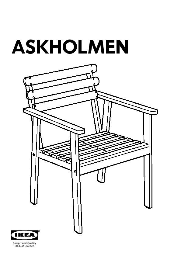 Askholmen tavolo e 4 sedie con braccioli grigio tortora for Askholmen tavolo ikea