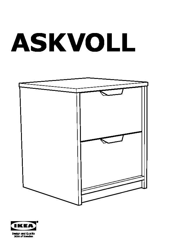 askvoll commode 2 tiroirs effet ch ne blanchi blanc ikea france ikeapedia. Black Bedroom Furniture Sets. Home Design Ideas