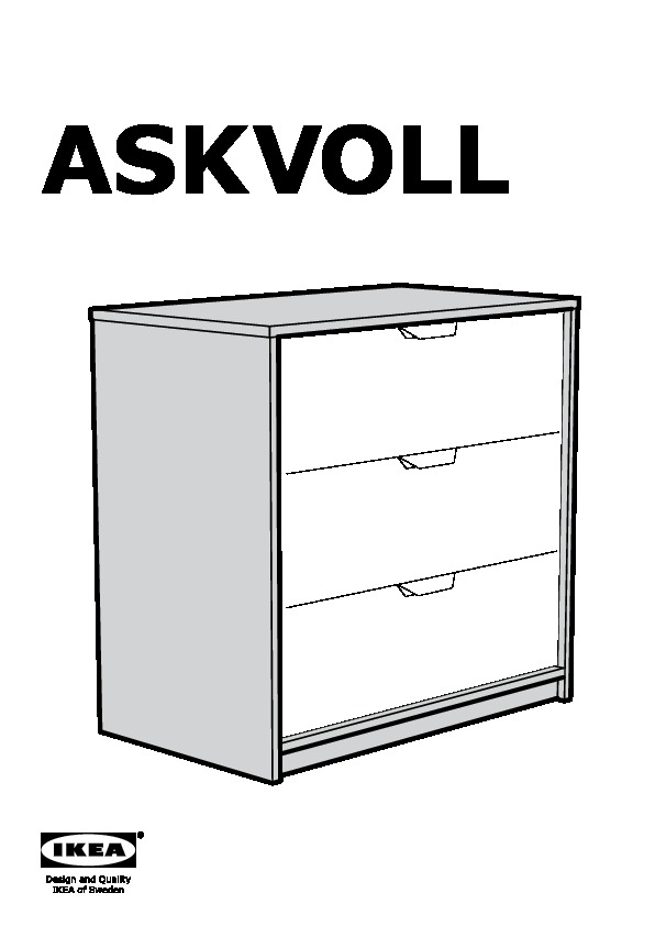 askvoll 3 drawer chest white stained oak effect white ikea canada english ikeapedia. Black Bedroom Furniture Sets. Home Design Ideas