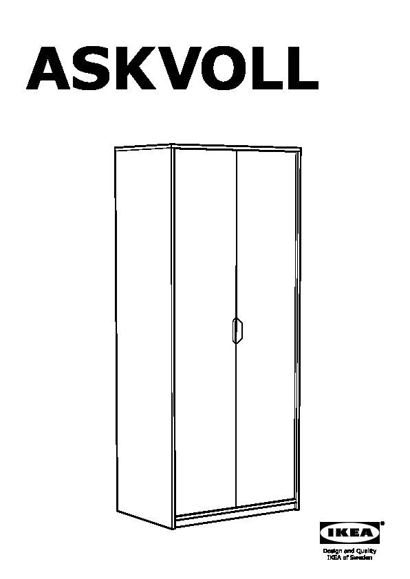 ikea askvoll wardrobe instructions