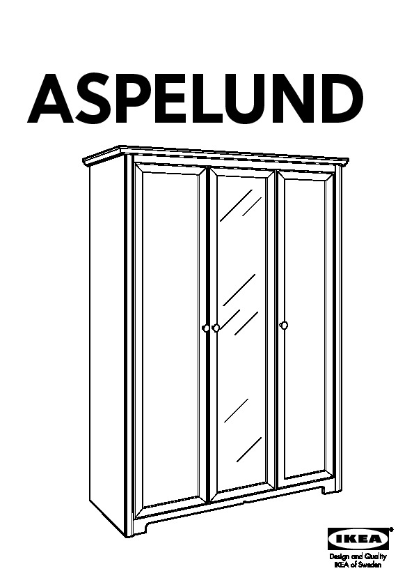 aspelund armoire 3 portes blanc ikea france ikeapedia. Black Bedroom Furniture Sets. Home Design Ideas