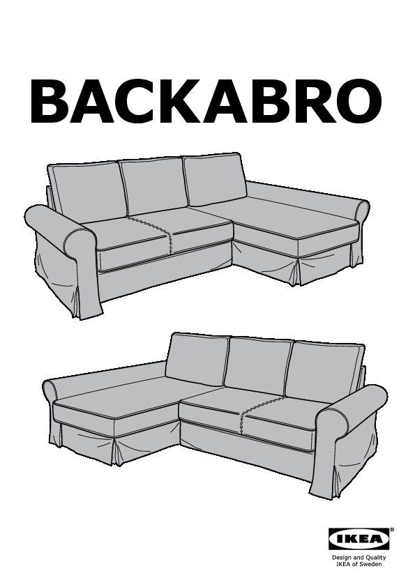 Backabro marieby divano letto con chaise longue ikea - Divano letto con chaise longue ...