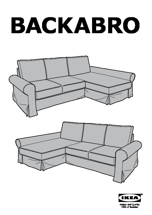 Fodera Divano Letto.Backabro Fodera Divano Letto Chaise Longue Risane Naturale Ikea