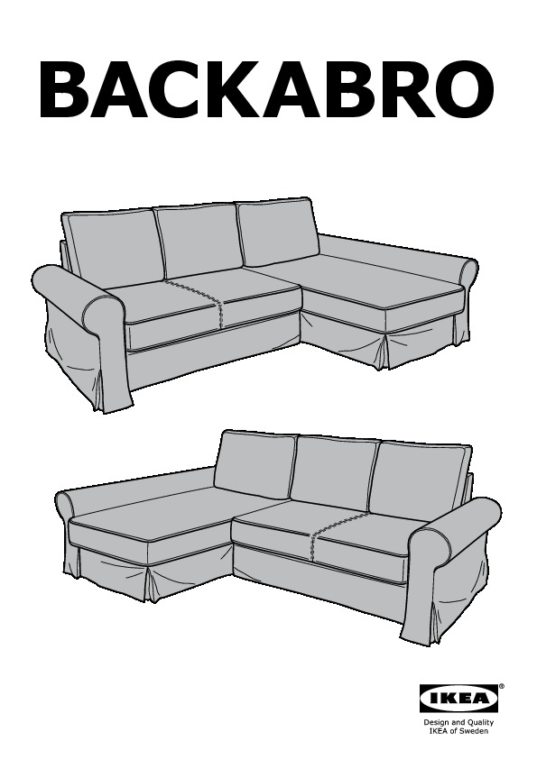 Backabro Sofa Bed Instructions
