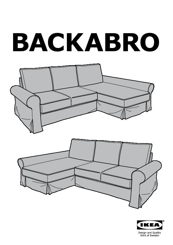 Backabro Divano Letto Con Chaise Longue Hylte Bianco Ikea Italy