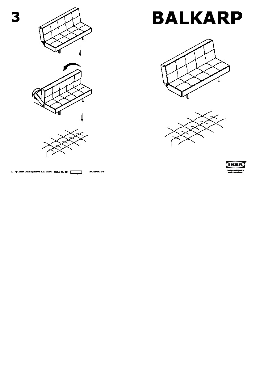 Brilliant Balkarp Sofa Bed Blue Ikea United States Ikeapedia Andrewgaddart Wooden Chair Designs For Living Room Andrewgaddartcom