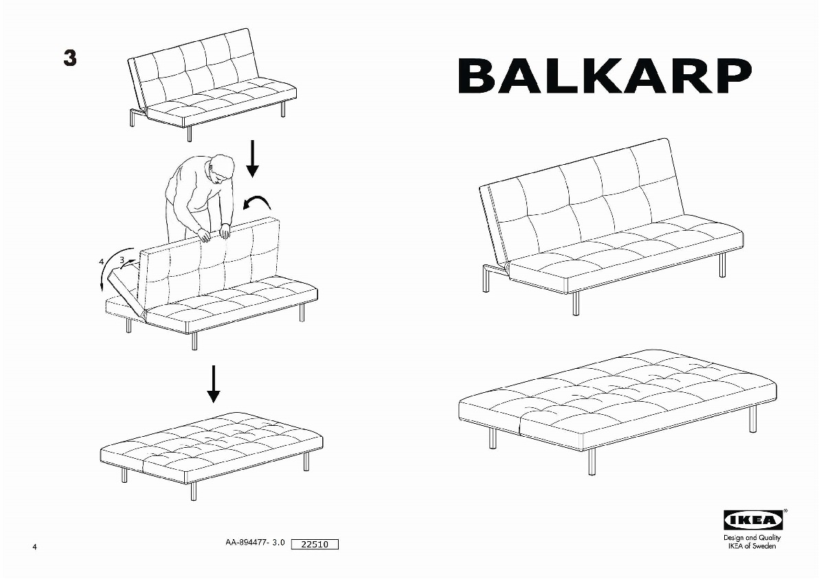 Balkarp Sleeper Sofa