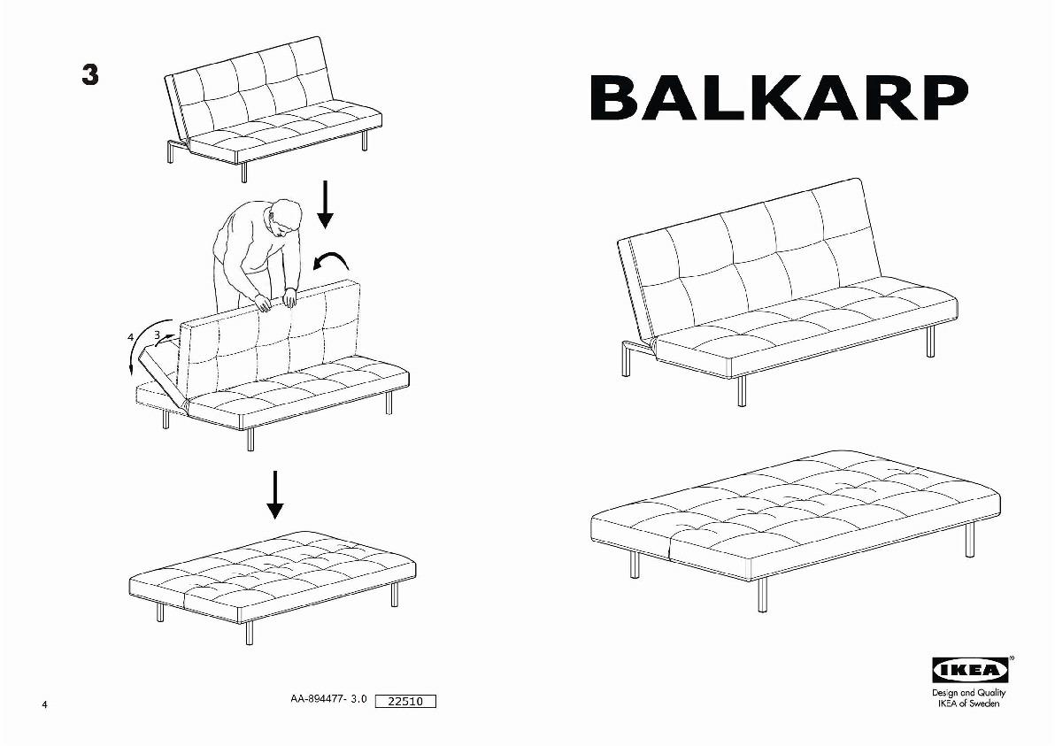 Balkarp Sofa Bed Blue Ikea United States Ikeapedia