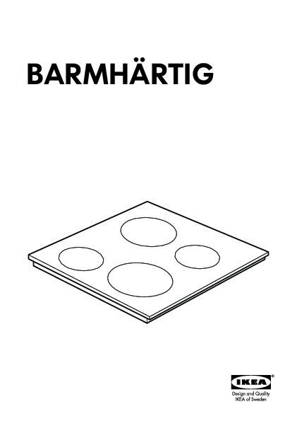 barmh rtig table de cuisson vitroc ramique noir ikea france ikeapedia. Black Bedroom Furniture Sets. Home Design Ideas