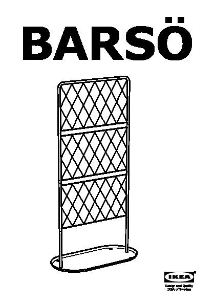 Bars treillis sur base plate noir ikea france ikeapedia for Ikea barso trellis