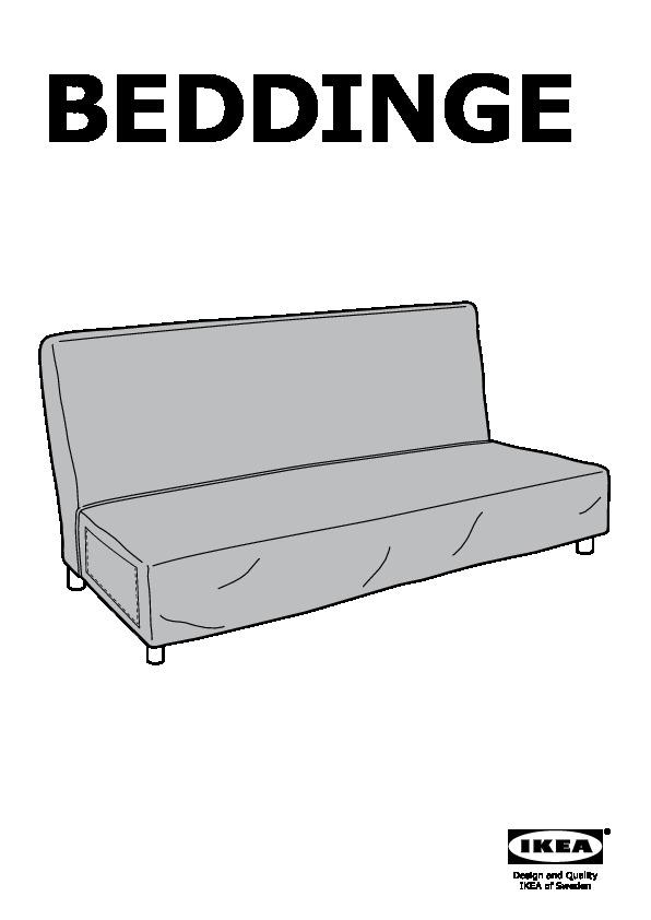 Beddinge l v s divano letto a 3 posti knisa turchese ikea - Materasso per divano letto 3 posti ...