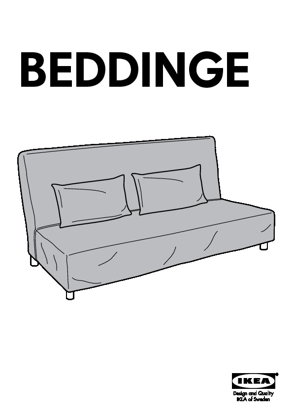 beddinge housse canap lit genarp rouge ikea canada. Black Bedroom Furniture Sets. Home Design Ideas