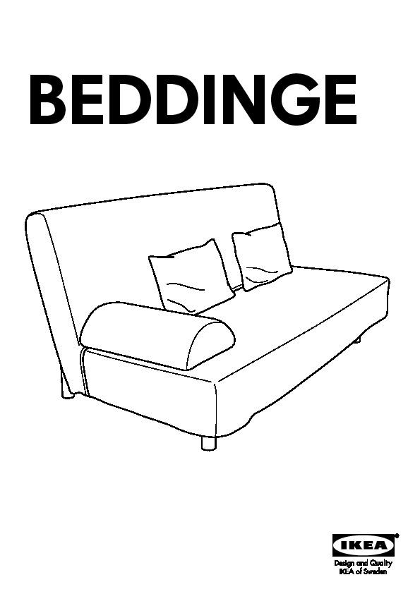 Beddinge Lövås Three Seat Sofa Bed Knisa Light Grey Ikeapedia