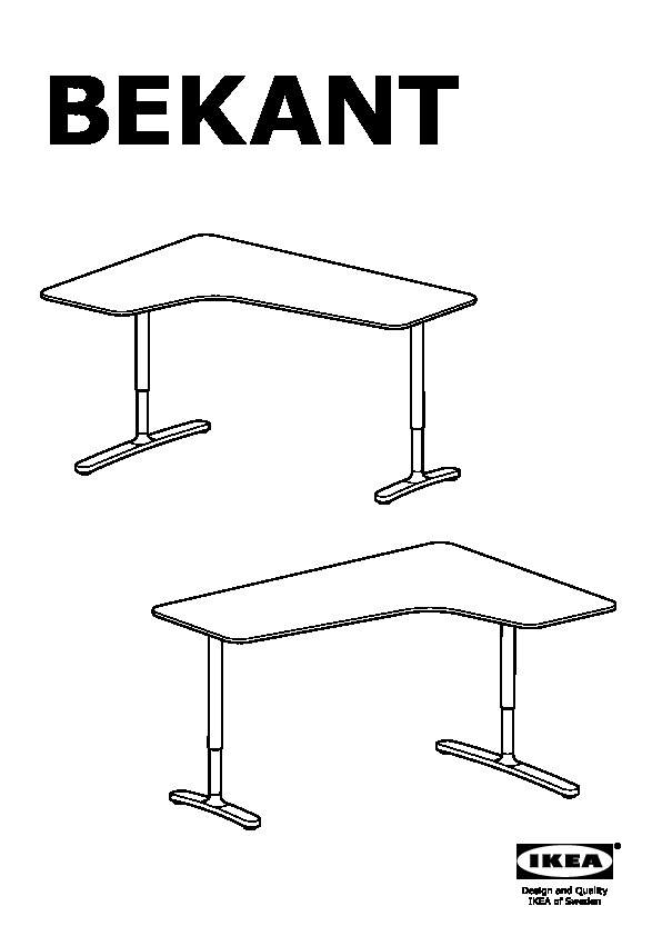 Scrivania Angolare Destra.Bekant Scrivania Angolare Destra Bianco Ikea Italy Ikeapedia