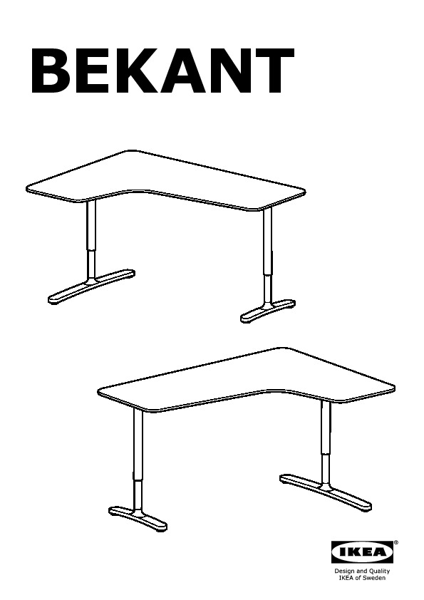 Bekant bureau d 39 angle drt gris noir ikea france ikeapedia - Scrivanie angolari ikea ...