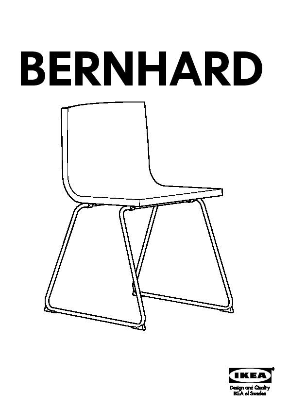 BERNHARD Chaise chromé, Kavat jaune foncé (IKEA France
