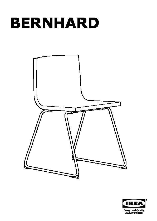 Bernhard chaise chrom kavat brun fonc ikea france for Chaise ikea bernhard