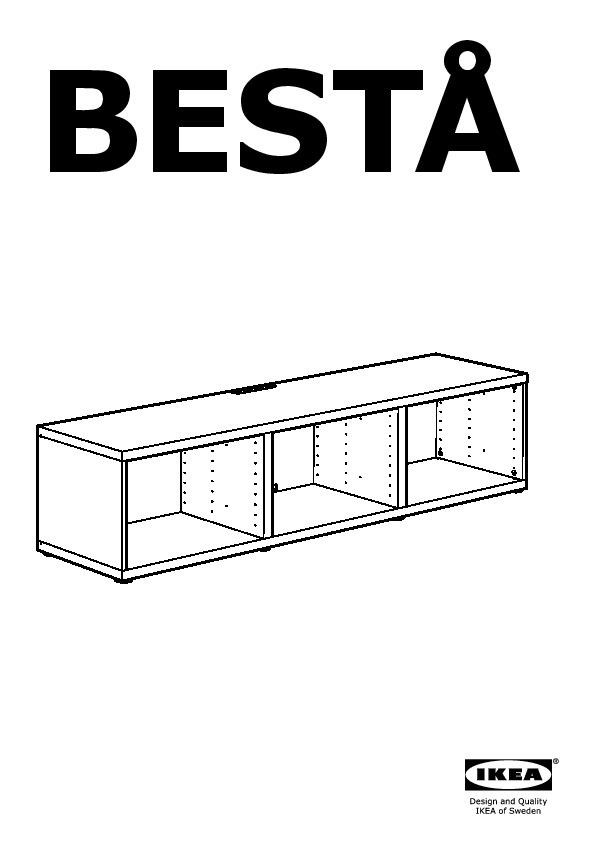 Besta Banc Tv Avec Tiroirs Et Porte Blanc Selsviken