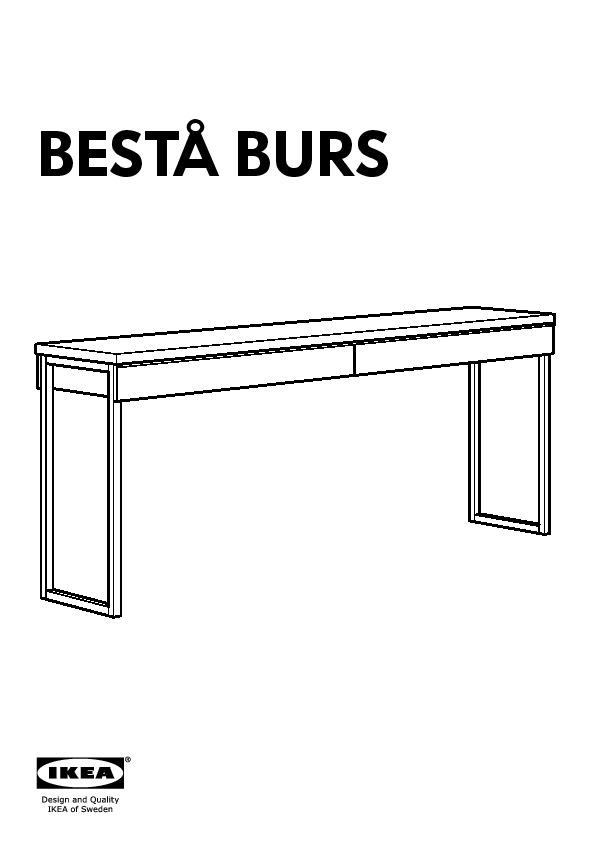 Besta Burs Bureau Brillant Blanc Ikeapedia