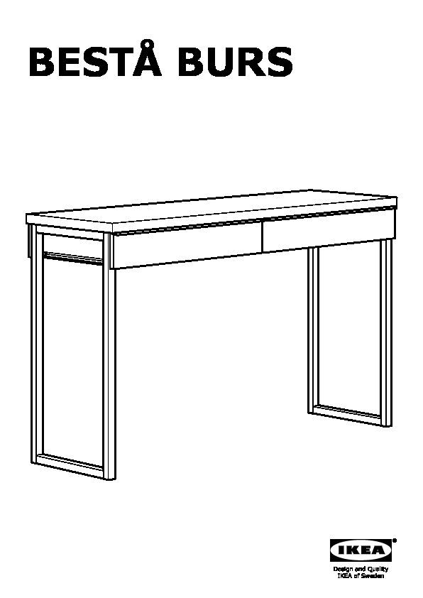 Ikea Besta Burs Scrivania.Besta Burs Scrivania Lucido Bianco Ikea Italy Ikeapedia