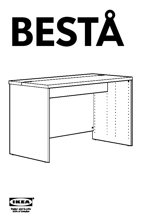 10116651 BestÅ Desk Assembly Instruction