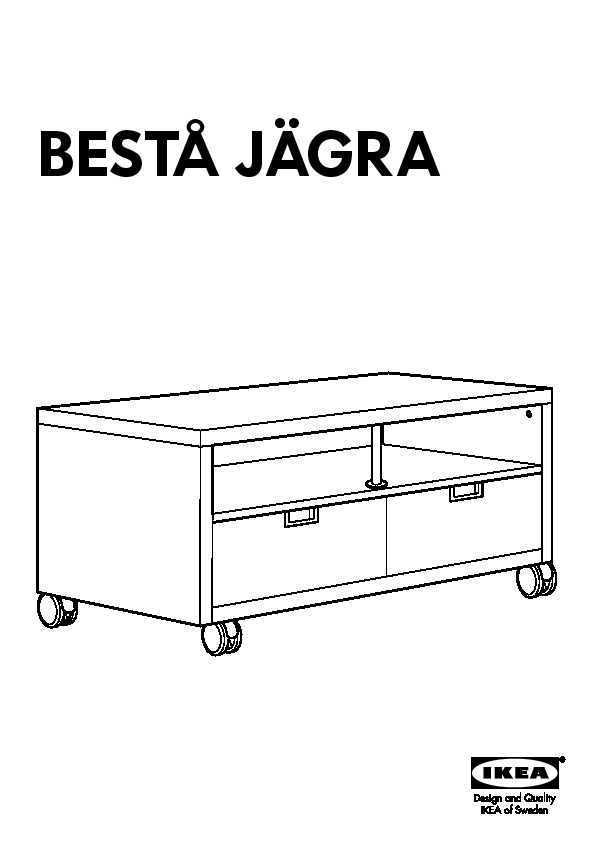 Besta Jagra Meuble Tv A Roulettes Blanc Ikea France