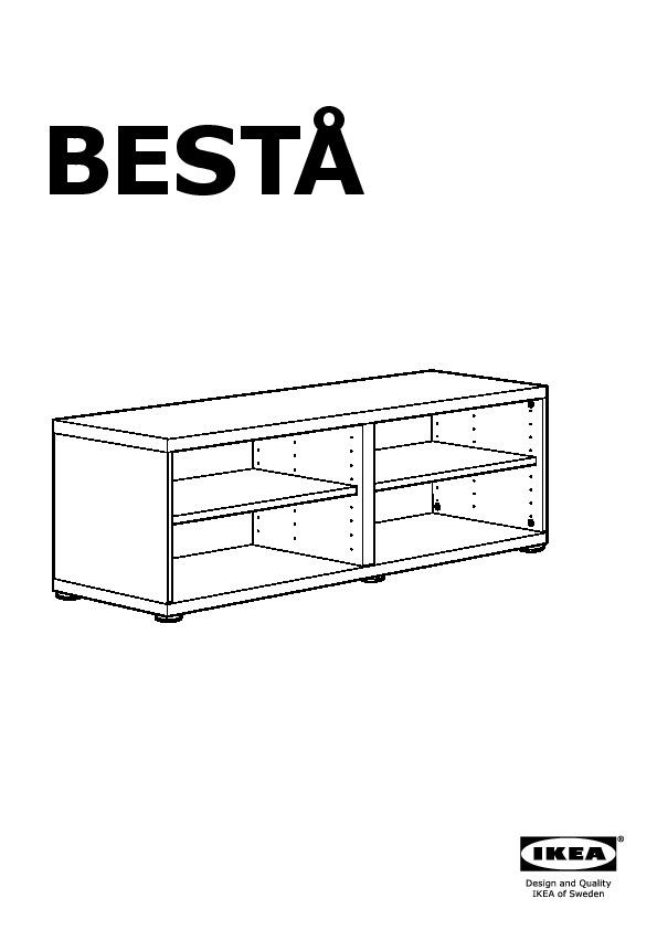 Binari Per Ante Scorrevoli Ikea.Besta Mobile Con Anta Scorrevole Bianco Vara Bianco Ikea Italy