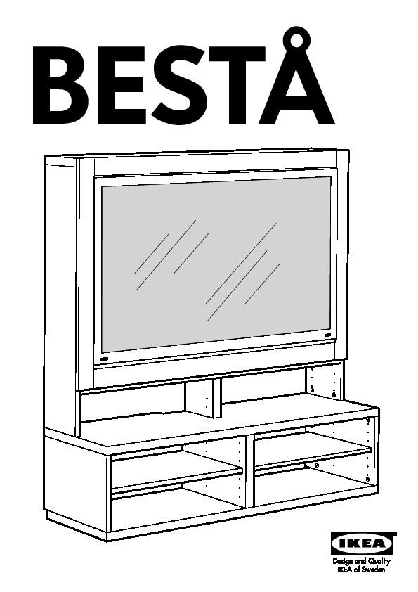 Avis Meuble Tv Besta : 10218452 – BestÅ – Notice De Montage