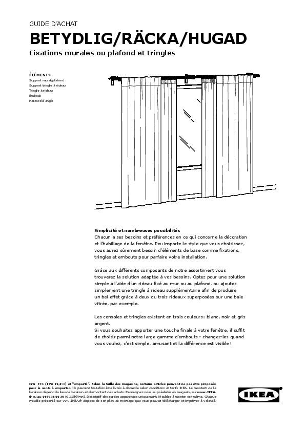 r cka hugad set tringle rideaux double noir ikea france ikeapedia. Black Bedroom Furniture Sets. Home Design Ideas