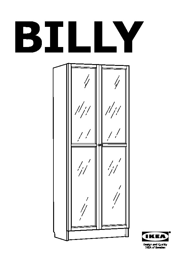 Ikea Libreria Billy Ante.Billy Libreria Con Anta A Vetro Blu Scuro Ikea Italy Assembly
